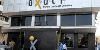 Karachi: 19th May - The building of Axact's office looks lonely after a raid by Federal Investigation  Agency's cyber crime unit on Tuesday. The action against Axact kicked off after Federal Interior Minister  Chaudhry Nisar Ali Khan ordered an inquiry into a story published by The New York Times that claimed the  company was issuing fake degrees as part of a massive, global scam. - DNA Photo by Suleman Khan