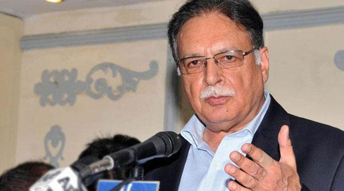 Information Minister Pervaiz Rasheed over a controversial news story