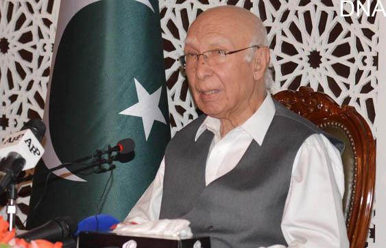 Aziz says unaware any Afghan Taliban delegation came to Pakistan