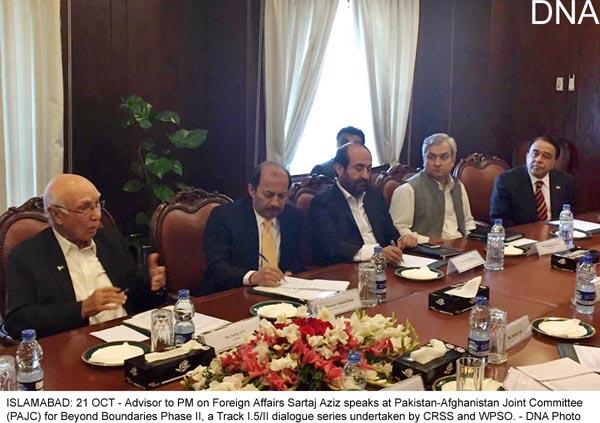 Key to peace lies in talks: Sartaj Aziz