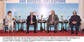 President Masood calls for UN-sponsored plebiscite in Kashmir