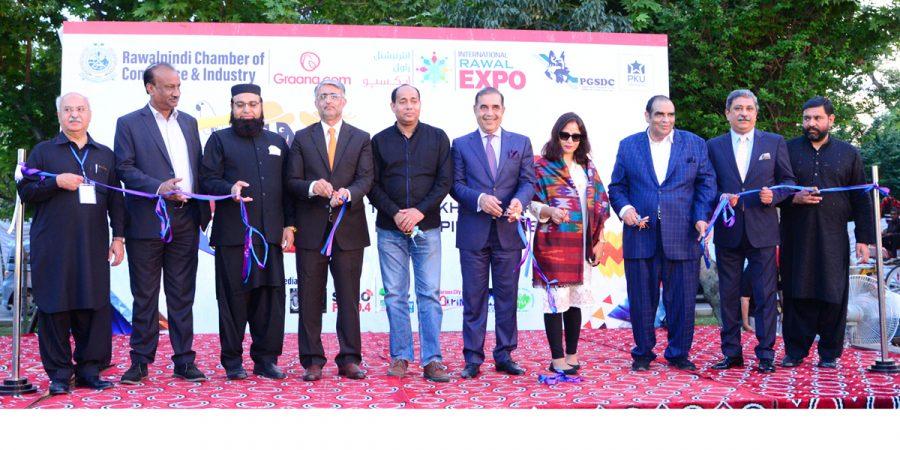 Nepal Ambassador Sewa Lamsel Adhikari inaugurating Pet Show at RCCI Rawal Expo 2019 in Rawalpindi