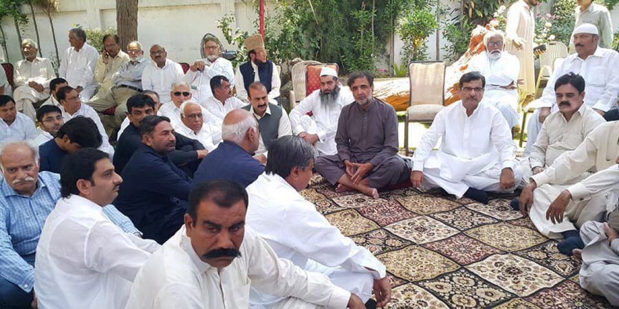 LALAMUSA, MAY 18: People gather to condole death of son of PPP leader Qamar Zaman Kaira, at Kaira House. DNA PHOTO