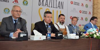 ISLAMABAD, SEPT 17: Ambassador of Brazil Claudio Lins addressing a press confenrece ahaed of Brazilian Food Festival starting from September 18 in Islamabad Marriott Hotel. DNA PHOTO