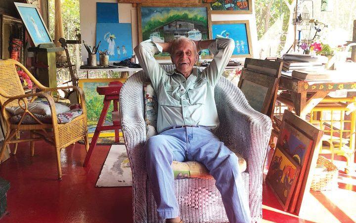 89-year-old, Everglades artist Dick Jay Photo: Jordan Stein