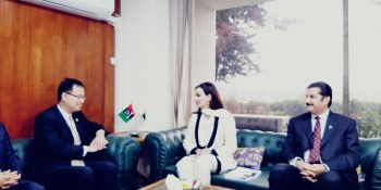 Pic - Chinese delegation called on Sen Sherry Rehman