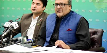 ISLAMABAD, DEC 05: Special Assistant to the Prime Minister on Accountability, Shahzad Akbar addressing a press conference.=DNA PHOTO