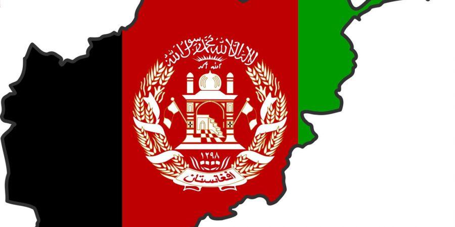 Afghanistan-flag-map