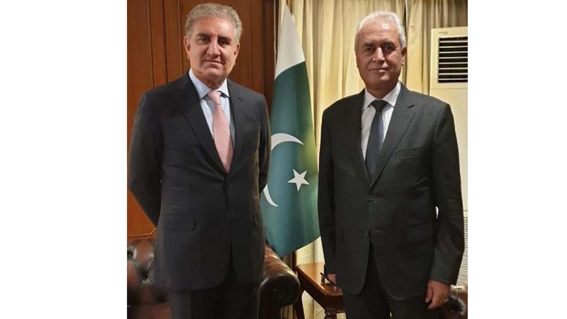 Palestine envoy meets FM Qureshi