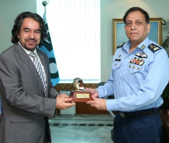 Turkish ambassador greets air chief on assuming command of the PAF