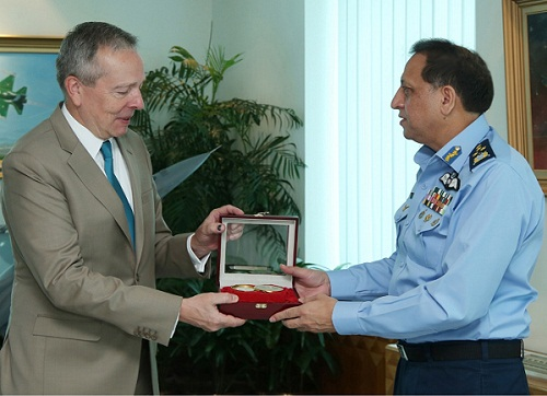 Ambassador Of Czech Republic H.E. Tomas Smetanka Calls On Air Chief