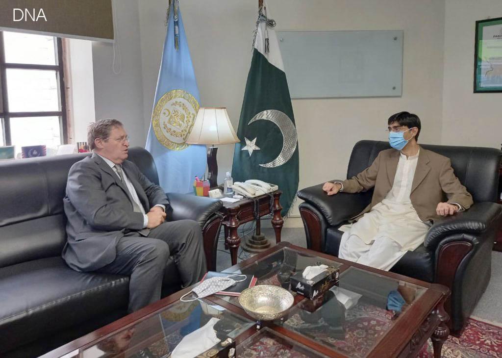 Swiss envoy meets Pakistan's National Security Advisor Moeed Yusuf