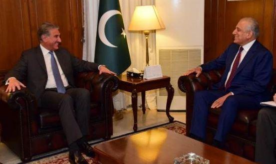Zalmay Khalilzad calls on FM Qureshi