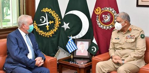 Army Chief, Greek envoys discuss regional, bilateral issues